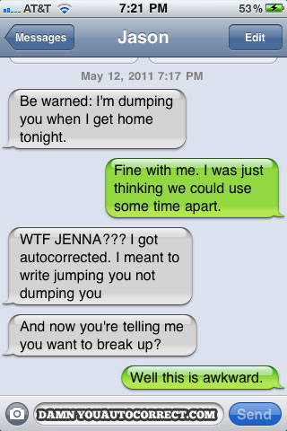 GOZmosis The 25 Funniest iPhone AutoCorrections of 2011