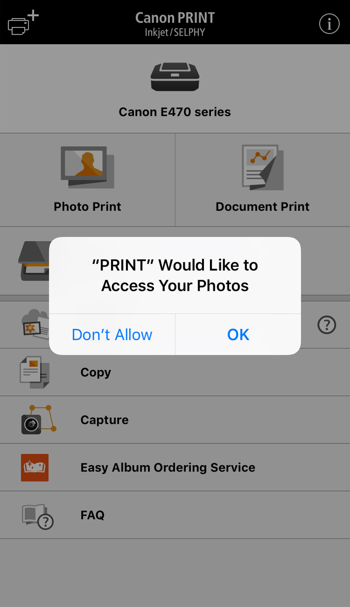 When paired with the Canon PRINT Inkjet/SELPHY app, users of the PIXMA E470  can print and scan documents and photos using any mobile device running  with an ...
