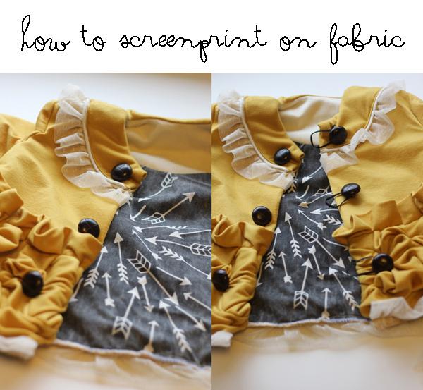 screenprinted arrow fabric - see kate sew