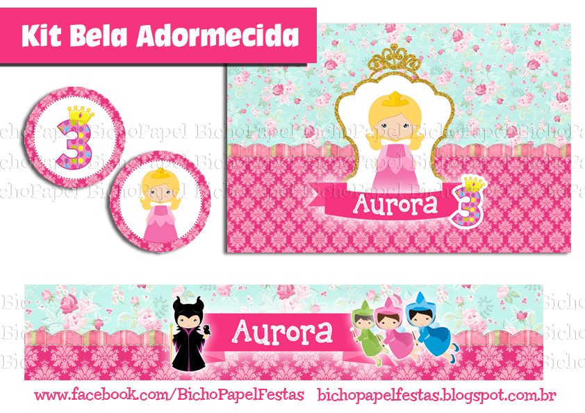 Kit Bela Adormecida (Aurora)