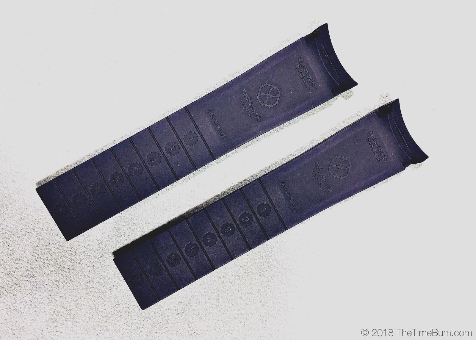 Bruggler Chronograph rubber strap
