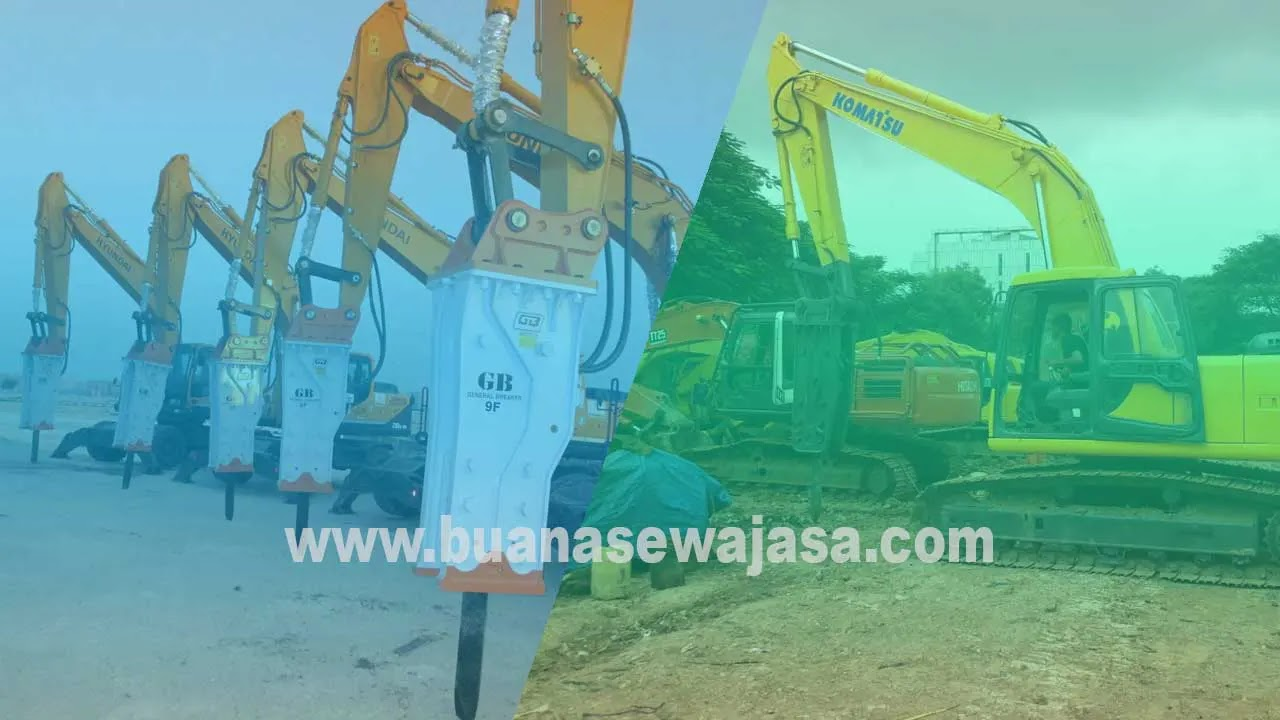 Harga Sewa Alat Berat Excavator Breaker