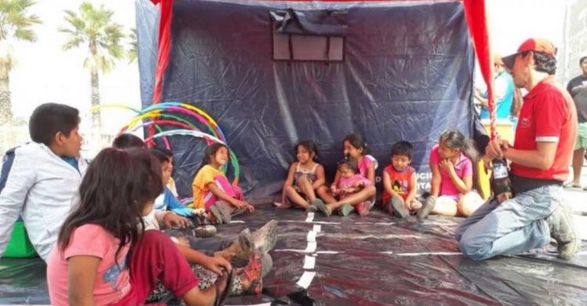 MINEDU realiza talleres lúdicos para niños evacuados por incendio en Comas - www.minedu.gob.pe