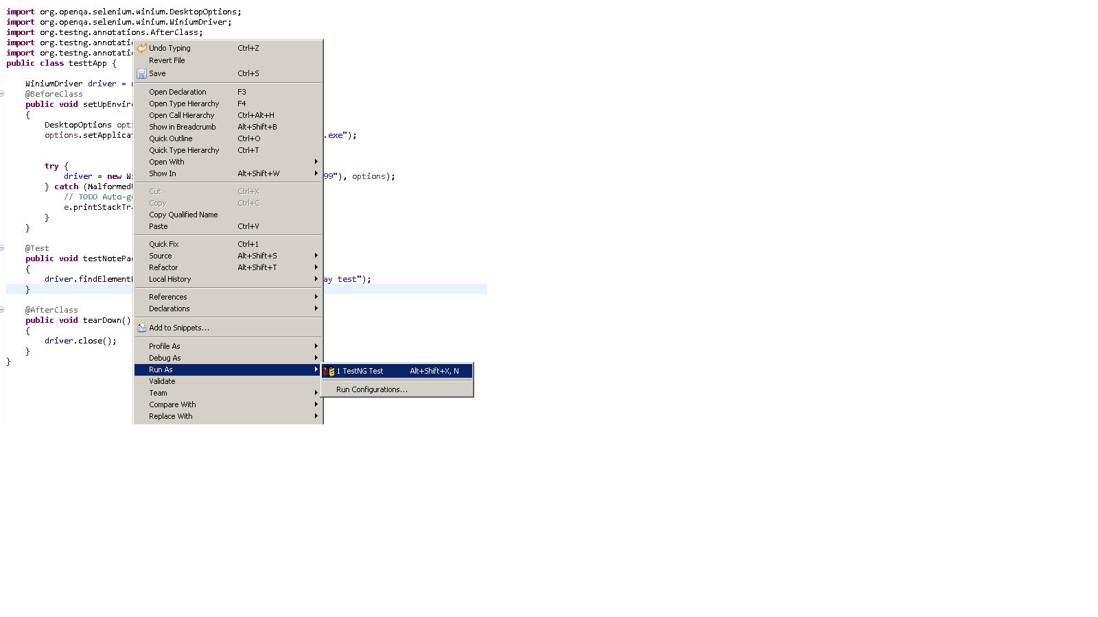 Automation of Windows Apps using Winium - Uday Here