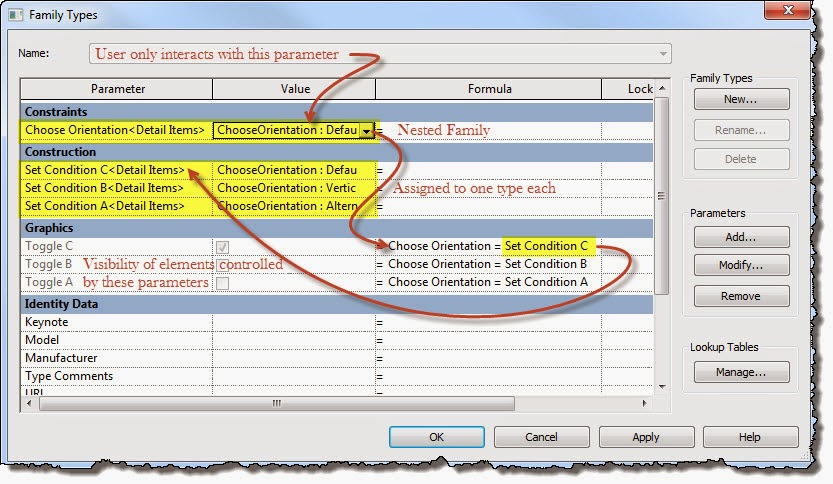 Revit OpEd: Controlling User Choices in Families