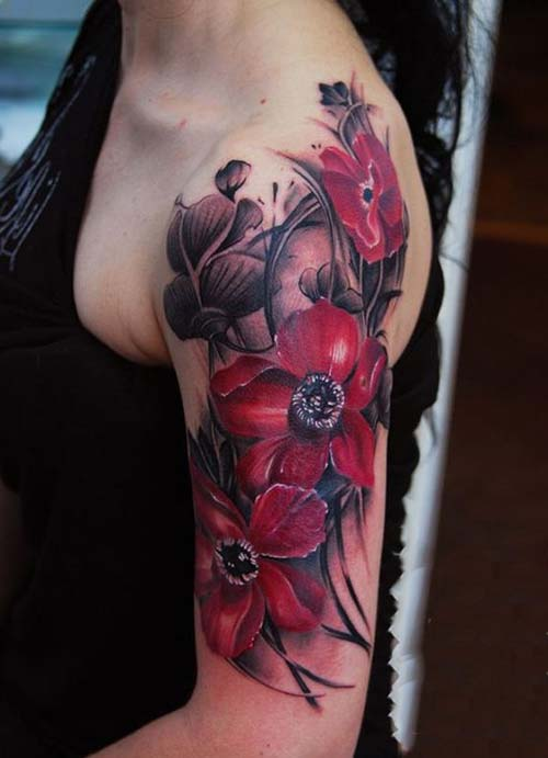 kadınüst  kol dövmeleri upper arm tattoo for woman