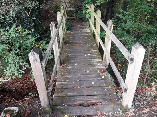 Image: The old footbridge before it was replaced Image courtesy of the Hertfordshire Countryside Management Service