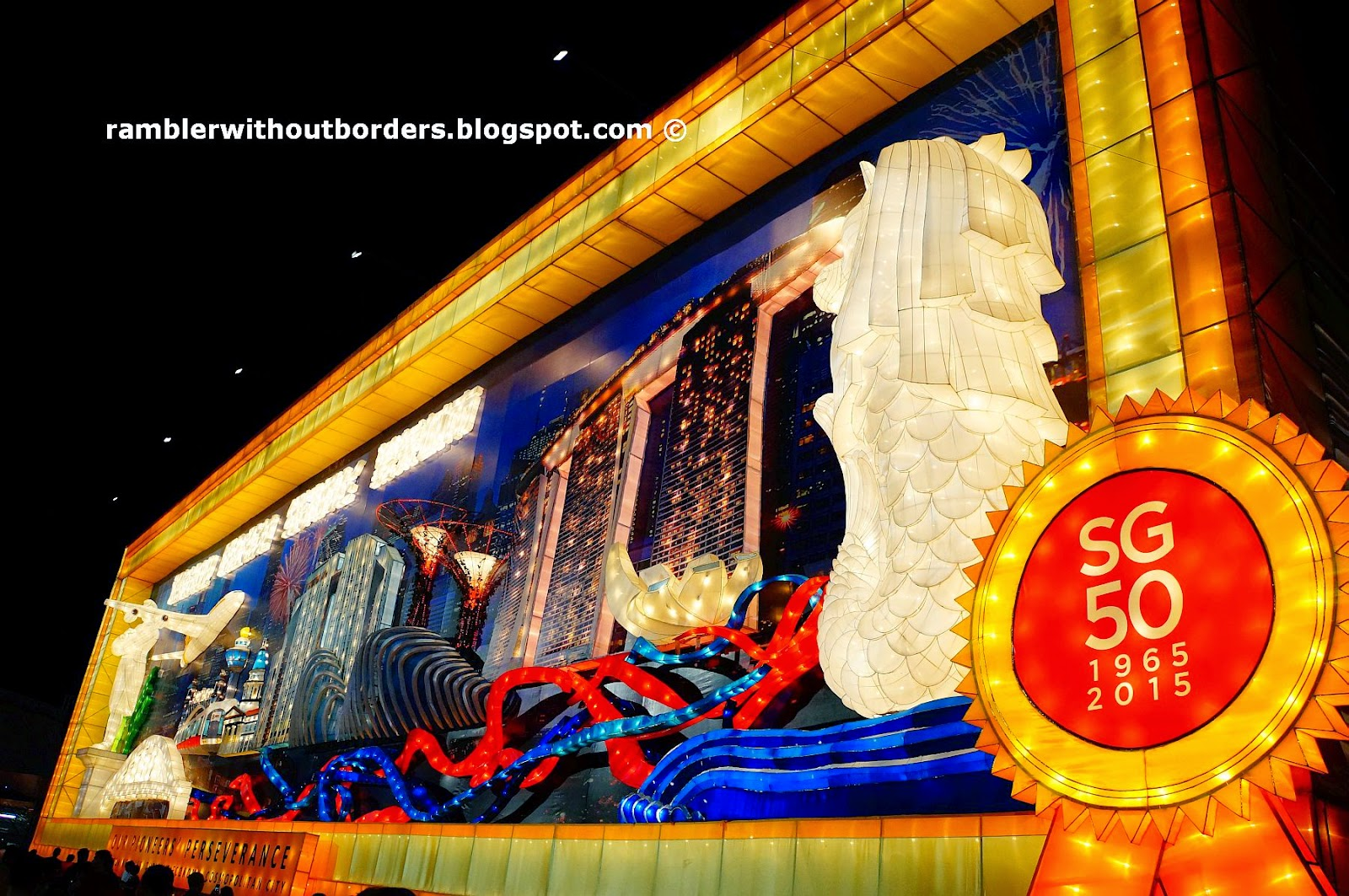 SG50 Giant Mural Wall, River Hongbao 2015, Singapore
