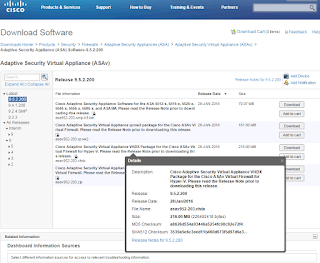 Cisco ASAv 9.5.1 200 and ASDM 7.5.1 in Workstation / ESXi