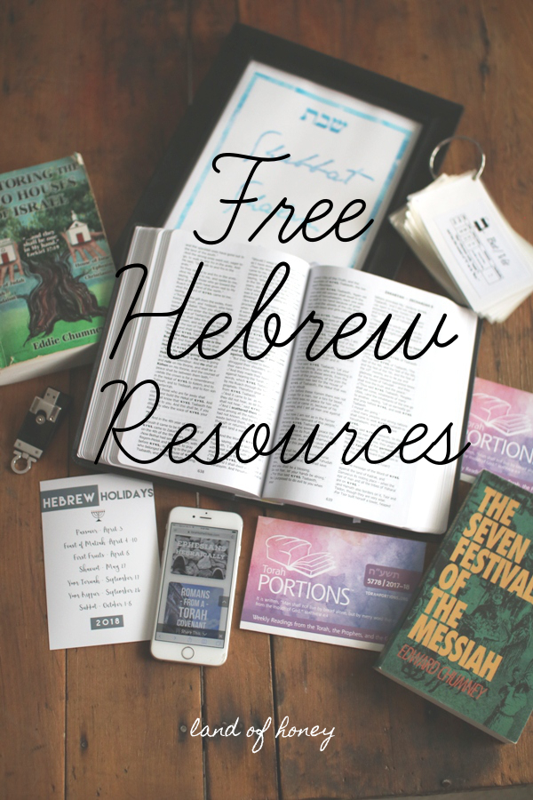 Free resources for those wanting to learn more about the Hebrew faith   Land of Honey