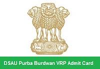 DSAU Purba Burdwan VRP Admit Card
