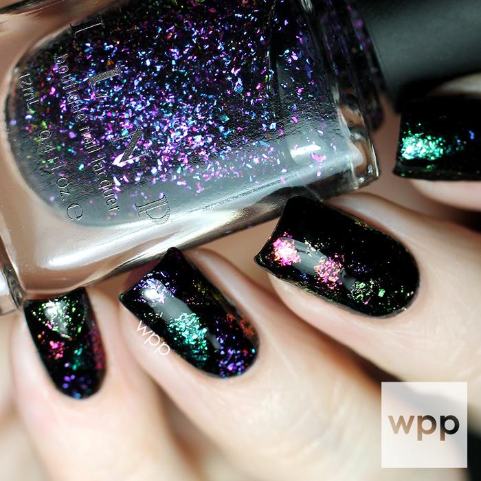 ILNP Ultra Chrome Flakies Color Block Nail Art