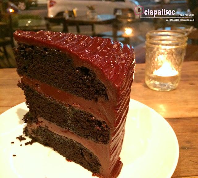 Salted Chocolate Cake at Wildflour Café + Bakery