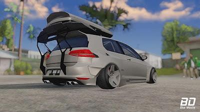VW Golf R Pandem Rocket Bunny para GTA San Andreas - Traseira