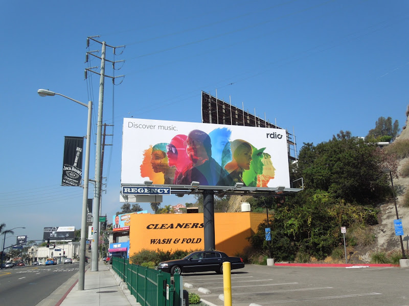 Rdio billboard Sunset Boulevard