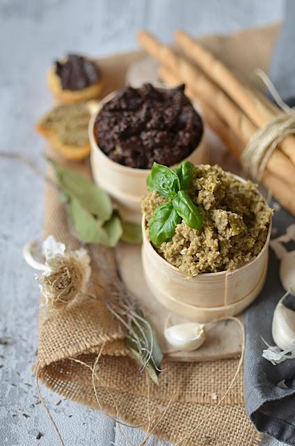 Tapenade d'olives vertes et noires