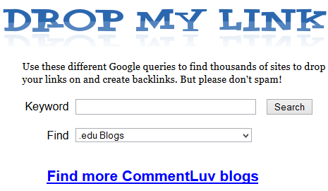 Find CommentLuv Enabled Blogs : WikiAskMe