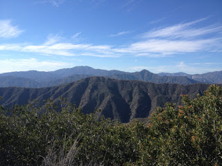 View west toward Glendora Mountain (3322') from the north ridge of Summit 3397, Angeles National Forest