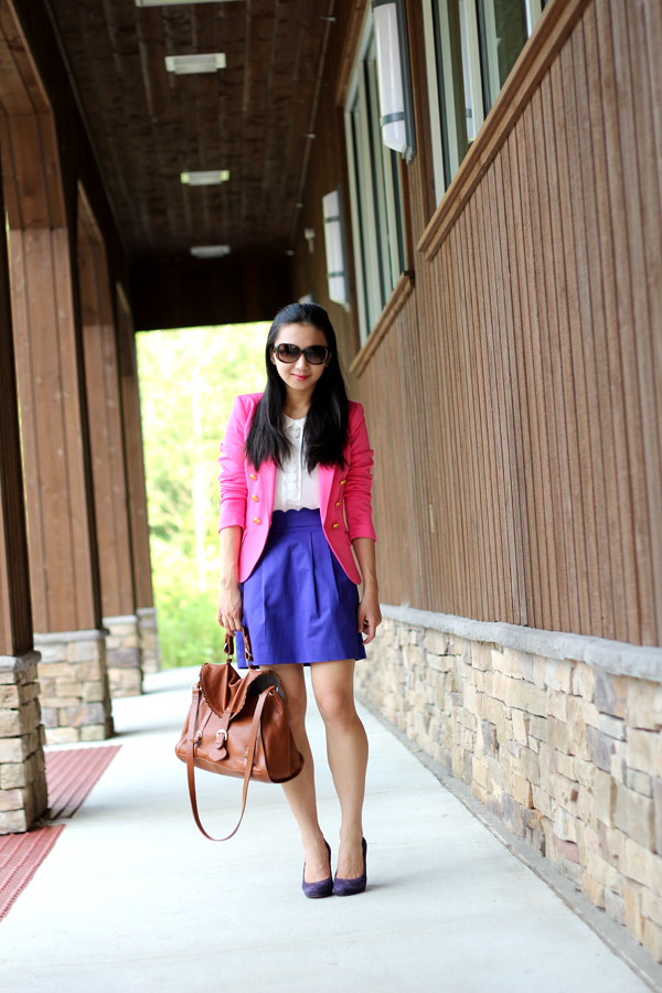 Grape & Purple Suede (Featuring the J. Crew Scallop Sateen Skirt)