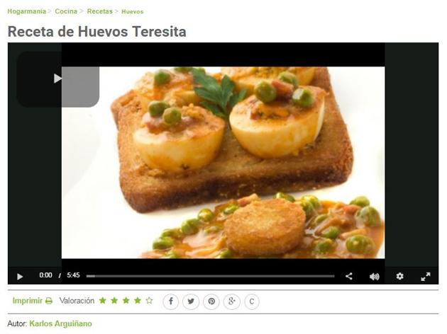 Huevos rellenos en salsa estilo Teresita