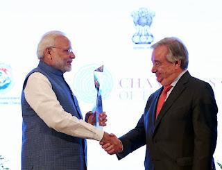 PM Narendra Modi conferred UNEP Champions of Earth Award 2018