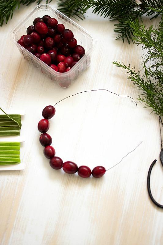 adventskalender t rchen nr 4 diy mini cranberry kranz schnelle idee f r weihnachtliche. Black Bedroom Furniture Sets. Home Design Ideas