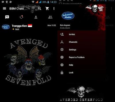 BBM A7X v3.0.1.25 MOD APK ( BBM Avenged Sevenfold)