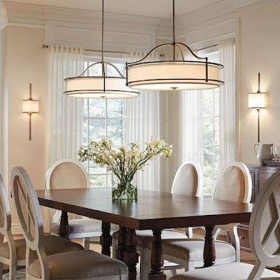 Semi flush mount dining room lighting