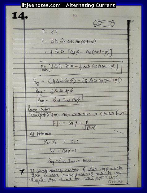 alternating current notes4