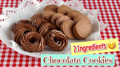two ingredient chocolate cookies