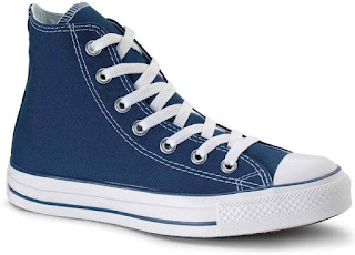 Tardis colored converse shoes