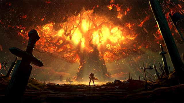 Burning Teldrassil Wallpaper Engine