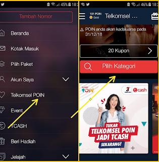 Cara menukar telkomsel poin via app mytelkomsel