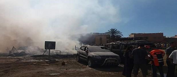 الجير و الجبص و أراضي السلاليين لحل أزمات منكوبي حريق سوق المتلاشيات بتارودانت