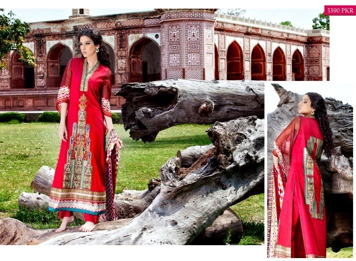 Latest Zeb Aisha Premium Lawn Collection 2014 by Al-Zohaib