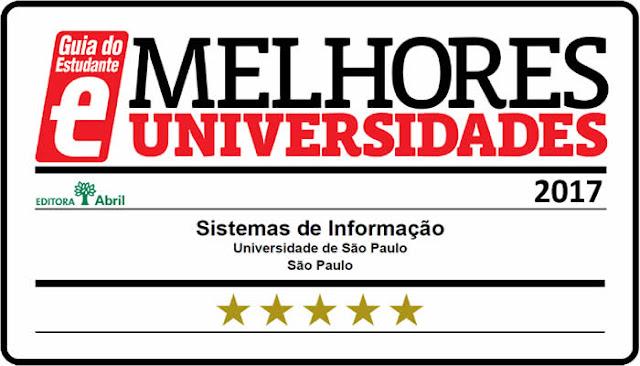 """Curso de Sistemas de Informação da USP recebe 5 estrelas do """"Guia do Estudante""""."""