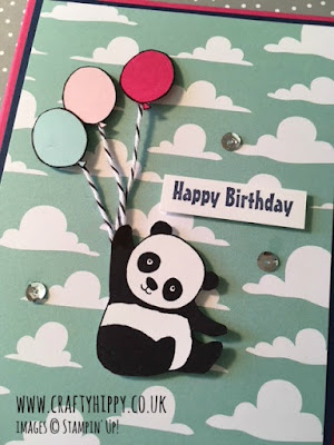 Get a free Party Pandas stamp set when you spend £45 on Stampin' Up! products, which are perfect for card making, scrapbooking and home decor projects.