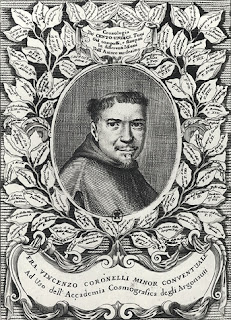 A portrait of Vincenzo Coronelli that  appeared in his atlas, Atlante Veneto