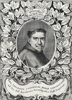 A portrait of Vincenzo Coronelli that  appeared in his atlas, Atlante Veneto