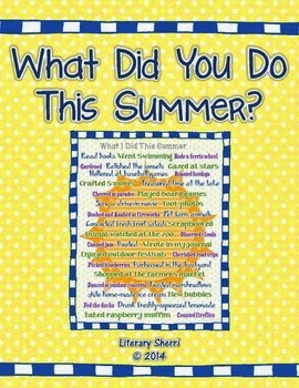 http://www.teacherspayteachers.com/Product/Beginning-of-Year-Activity-What-Did-You-Do-This-Summer-Middle-School-1341579