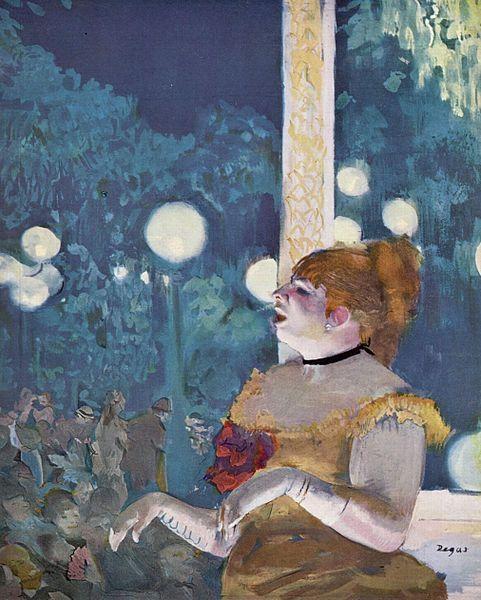 At the Café Concert - Edgar Degas