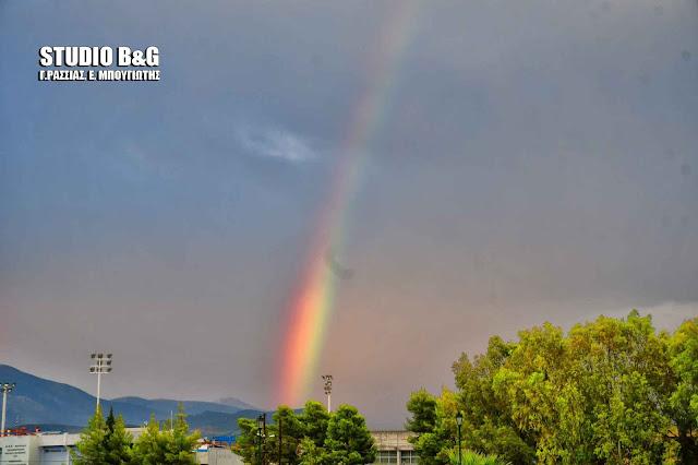 Η φωτογραφία της ημέρας: Ουράνιο τόξο στο Ναύπλιο