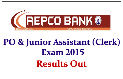 REPCO Bank PO and Clerk Exams 2015 Results Out