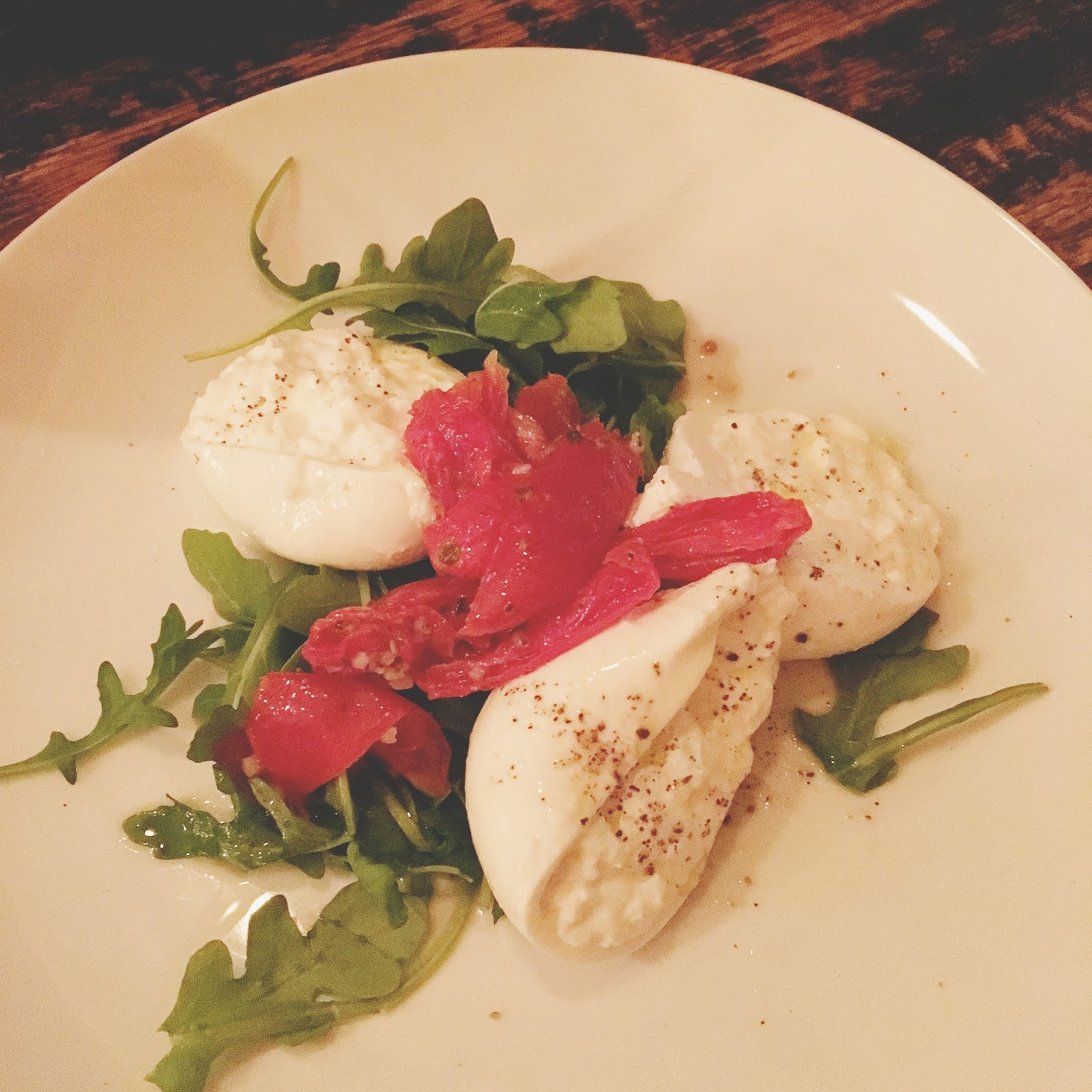 burrata at Treva - a restaurant in West Hartford, Connecticut