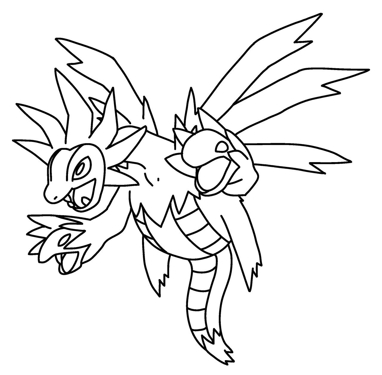Hydreigon Pokemon Coloring Page