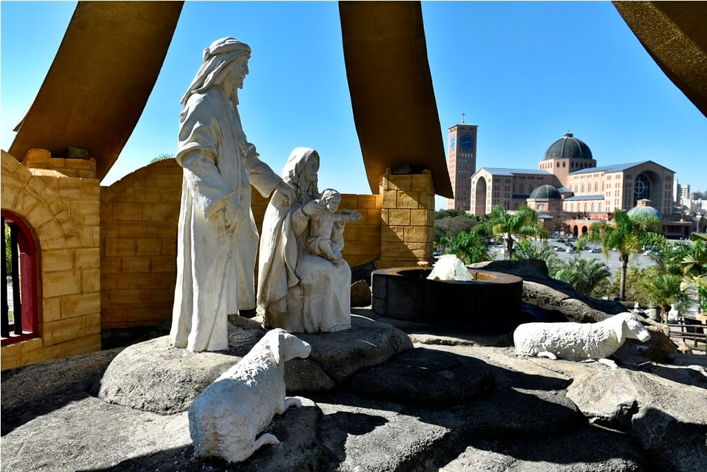 Presépio no Santuário Nacional