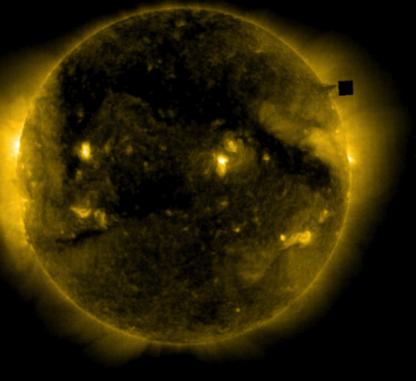 dark cube near the sun