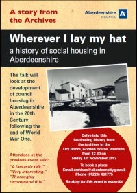 "Go along to ""Wherever I lay my hat"" a history of social housing in Aberdeenshire"