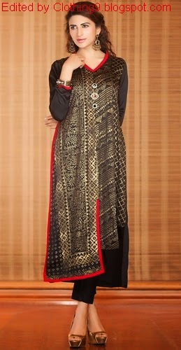 bf7c5b086 Exclusive Pakistani Casual Dresses 2015-16