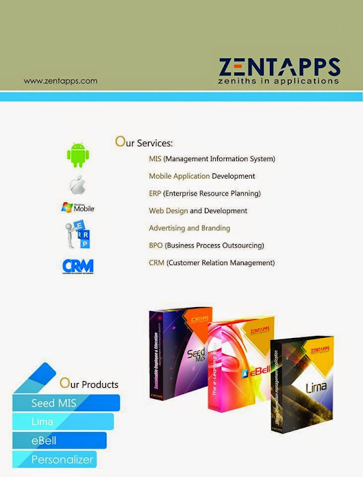 ZENTAPPS LAUNCHING NEW PRODUCTS